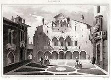 MILANO: Tribunale del Regno Lombardo-Veneto.Lombardia.ACCIAIO.Stampa Antica.1838
