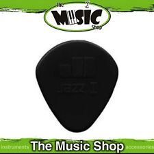 10 x Jim Dunlop Nylon Jazz 1 Guitar Picks - 1.10mm with Round Tip - Black