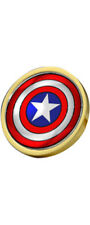 Captain America Shield Logo Gold Plated Clutch Pin Badge