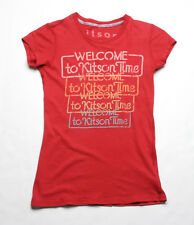 Kitson Welcome To kitson T-Shirt (XS) Rouge