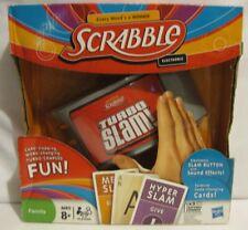Scrabble Turbo Slam Electronic Hasbro Card Game Family Fun Sound ~NEW in BOX~NIB