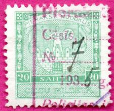 LATVIA LETTLAND MUNICIPAL CESIS 20 san REVENUE STAMP 176