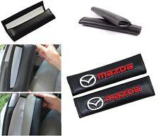 X2 Carbon Look Seat Belt Cover Shoulder Pads for MAZDA 3 6 MIATA GT SP23 RX7 RX8