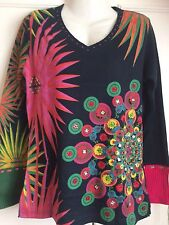 Desigual  Jumper Top, Black & Multi, UK Size L