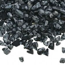 50 Grams Snowflake Obsidian Natural Mini to Small UNDRILLED Chips Embellishment