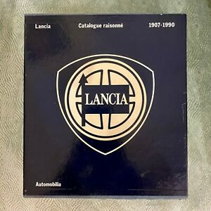 """Lancia Catalogue raisonné 1907-1990"" libro Barnabò Alfieri 1990 due volumi"