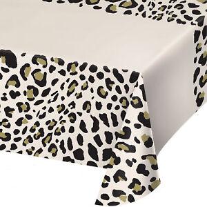 Safari Jungle Animal Leopard Cheetah Party Paper Table Cover 137 x 259 cm