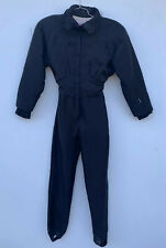 Women's Vintage Nils One piece Ski Snow Suit Size 8 Black Skiwear