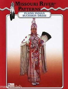 Missouri River Native American Plains Indian Buckskin Dress 6-20 Sewing Pattern
