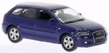 Coches, camiones y furgonetas de automodelismo y aeromodelismo color principal azul de escala 1:87
