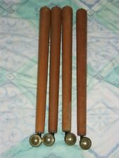 SET of 4 SOLID WOOD TURNED TABLE LEGS VINTAGE 21 inches & 53cm tall MID CENTURY