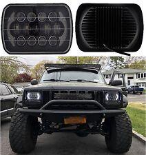 85w Cree 7x6 5x7 Led Headlight Hi Lo Beam Halo Drl Bulb For Jeep Xj Yj H6054 Fits Mustang