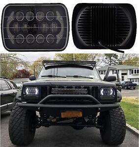 "85W CREE 7x6"" 5x7"" LED Headlight Hi-Lo Beam Halo DRL Bulb For Jeep XJ YJ H6054"