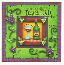 FATHER DAD WINE DRINKER Designers Greetings Birthday Greeting Card Envelope MG2