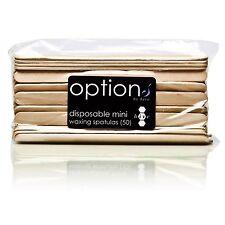 50 X Eyebrow Waxing Spatulas Wooden Facial Lip Chin Wax Thin Small Mini HOB5544