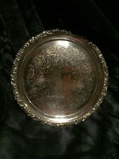 """Ellis Barker Silverplate 10"""" Footed Tray"""