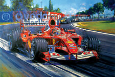Ferrari Champion Supreme Print by Nicholas Watts Signed by Michael Schumacher