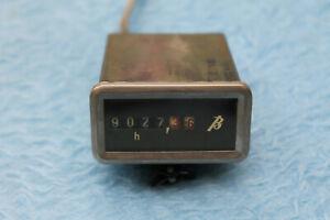 Telefunken M 5 Bandmaschine Betriebsstundenzähler Eckig für Einbau mit Halterung