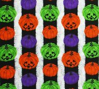 Jack O Lantern Pumpkin Neon Halloween Cotton Quilting Fabric David Textiles