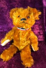 ANTIQUE COLLECTABLE USA MADE RUST COLOURED FUR JOINTED LIMB TEDDY BEAR 13""