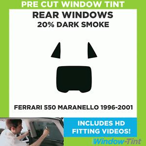 Pre Cut Window Tint - Ferrari 550 Maranello 1996-2001 - 20% Dark Rear