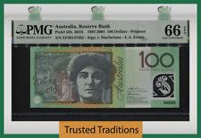 TT PK 55b 1997-2001 AUSTRALIA RESERVE BANK 100 DOLLARS PMG 66 EPQ GEM UNC.