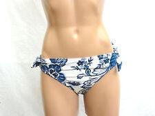 Ralph Lauren Women's Swim Bikini Bottom, Sz 8, Blue White Paisley Print