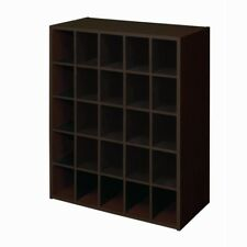 Stackable 25-Cube Cubby Shoes Storage Unit Organizer Bookcase Display Organizer