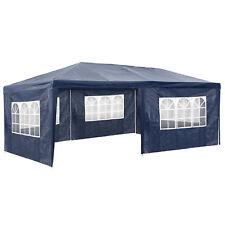 Gazebo da giardino tendone tenda per festa party con parti laterali 3x6 m blu nu