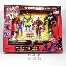 BNIB Marvel Heavy Hitters Spiderman Wolverine vs Venom Carnage Toy Biz 1998 NEW