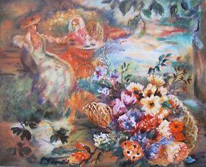 "SEVITT FRANCIS ""SUNNY DAY"" Hand Signed Limited Edition Serigraph Flower Art"