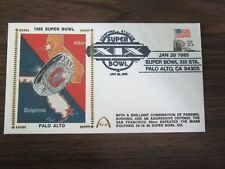 1985 Super Bowl XIX Cachet / Envelope Miami Dolphins vs San Francisco 49ers