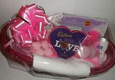 Ladies Pamper Hamper Basket Birthday Gift For Her Chocolates Bath Bombs Treats