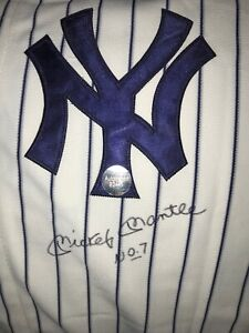 Mickey Mantle Jersey #7, New York Yankees, Autographed