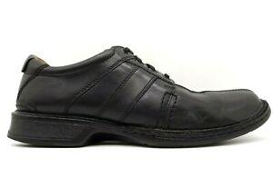 Clarks Black Leather Split Toe Lace Up Oxford Sneakers Shoes Men's 11 M