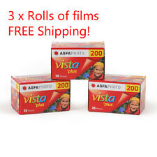 3 Rolls x AgfaPhoto AGFA VISTA Plus ISO200 36exp 135 35mm Color Film EXP.2017
