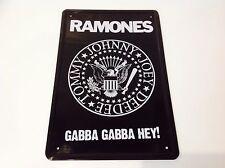 Ramones Gabba Gabba Hey! Punk Rock Metal Cartel Pared Decoración Vintage Cartel Placa