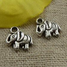 free ship 220 pieces tibetan silver elephant charms 12x11mm #3897