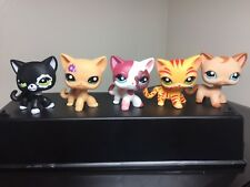5pcsLittlest Pet Shop Cats LPS #1451 #1962 #2291 #2249 # #1024 Short Hair