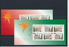 Greenland #686-687a Christmas 2014 booklet panes - very fine used (TP00005)
