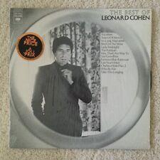 LEONARD COHEN - THE BEST OF LP - CANADA - SHRINK - HYPE STICKER 1975 CANADIAN