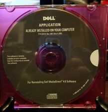 Pre-owned ~ Dell Application for Reinstalling Dell MediaDirect 4.0 Software Disc