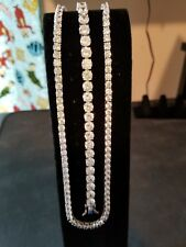 diamond simulant necklace and bracelet combo