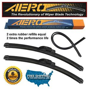 "AERO 22""&19"" Premium All Season Windshield Wiper Blades +Extra Refill (Set of 2)"