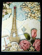 Punch Studio Paper Notepad Jeweled Paris Roses Magnetic 66529 Note Pad Book