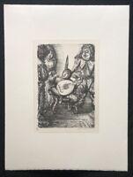 A. Paul Weber, Troll, aus dem Nachlass, Lithographie, 1969, Signaturstempel
