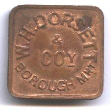 New listing W. H. Dorsett * Borough Mkt * London * Tc-465885 * Copper Square 25mm * Nice !