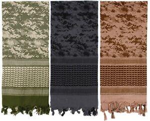 Digital Camouflage Heavyweight Arab Desert Tactical Army Shemagh Keffiyeh Scarf