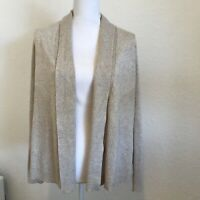 89th And Madison Open Knit Cardigan Size M Oatmeal Beige