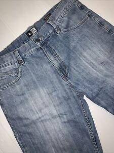 Rip Curl Denim Shorts Men's Size 36 Blue Regular Fit Zip Close With Pockets